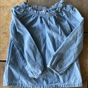 Carter's Chambray Detailed Top